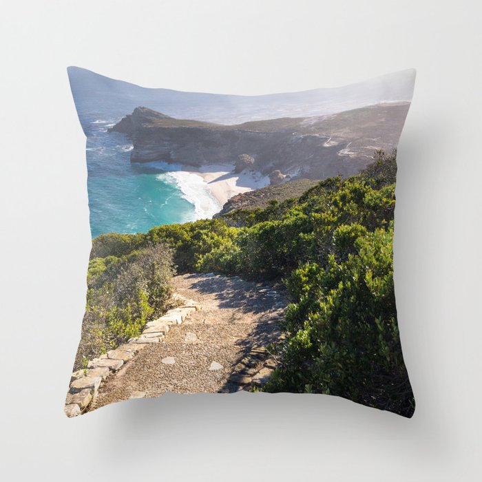 View of Cape Point in Cape Town, South Africa Throw Pillow