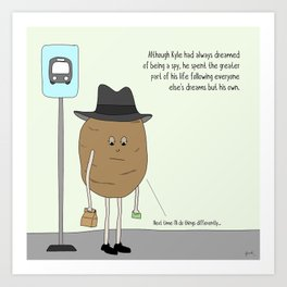 raw potato. Art Print