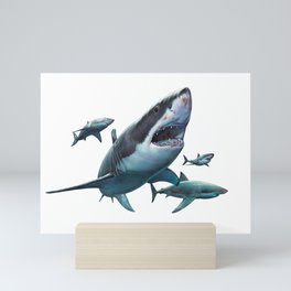 Great White Sharks Mini Art Print