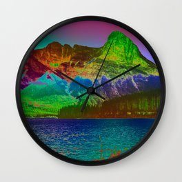 Rainbow Mountains Wall Clock