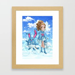 Furisode Marill Framed Art Print