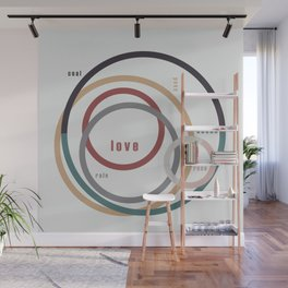 for Love || words & circles Wall Mural