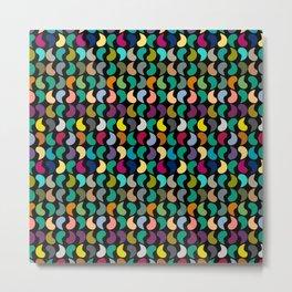 Seamless Colorful Geometric Shapes Pattern Metal Print