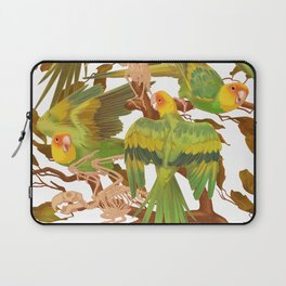 The extinction of the Carolina Parakeet. Laptop Sleeve