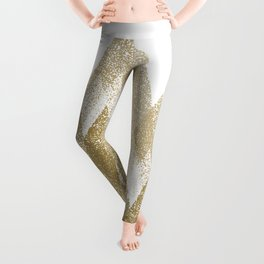 gold mountains with snow Leggings