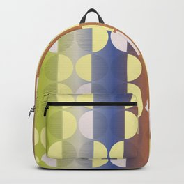 Classic Polka Dots with Bold Blended Hues Backpack
