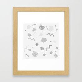 SHAPES GREY Framed Art Print