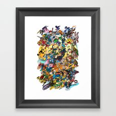 Super Smash Bros! Framed Art Print