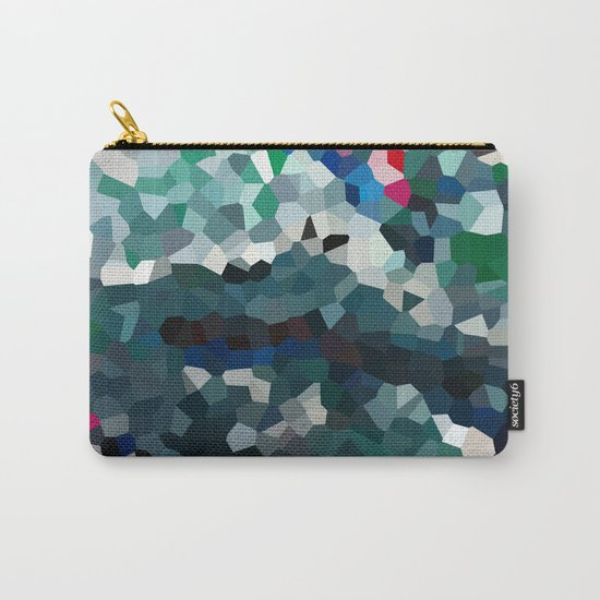 Emerald Sea Green Moon Love Carry-All Pouch