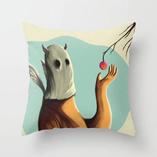 Collecting the fruit Throw Pillow
