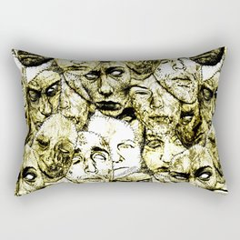 Face Stitches Rectangular Pillow