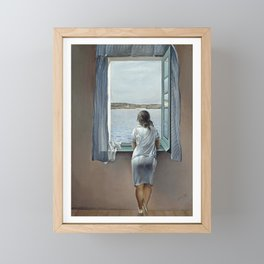Salvador Dali Young Woman at a Window 1925 Artwork for Wall Art, Prints, Posters, Tshirts, Mwn, Women, Youth Framed Mini Art Print