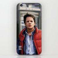 marty mcfly iPhone & iPod Skins featuring Marty McFly by Kaysiell