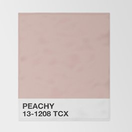 peachy Throw Blanket