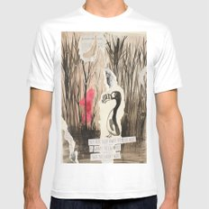 Little Red and Great Auk MEDIUM Mens Fitted Tee White