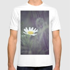 Miss Daisy White MEDIUM Mens Fitted Tee