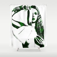 kate moss Shower Curtains featuring Kate Moss by fashionistheonlycure