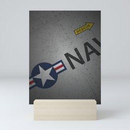 U.S. Military Warbird Naval Aircraft Skin Mini Art Print