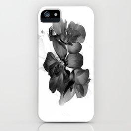 Black Geranium in White iPhone Case