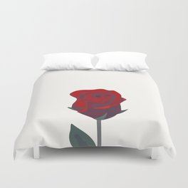 A Rose Was Born Duvet Cover