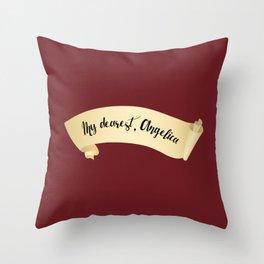 My Dearest, Angelica Throw Pillow