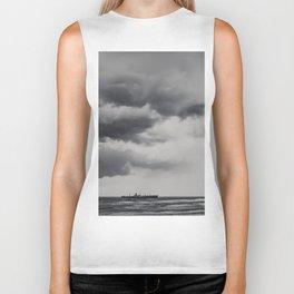 Storm Clouds Gathering Over Shipwreck, Abandoned Shipwreck In Ocean, Seascape Print Photo, Wall Art Biker Tank