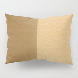 Imperfect Smooth VS Orange Peel Textures Minimalism Earth Tone Art - Corbin Henry Pillow Sham