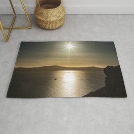 Sunset over Santorini Rug