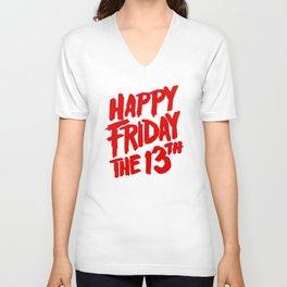 Happy Friday the 13th Unisex V-Neck