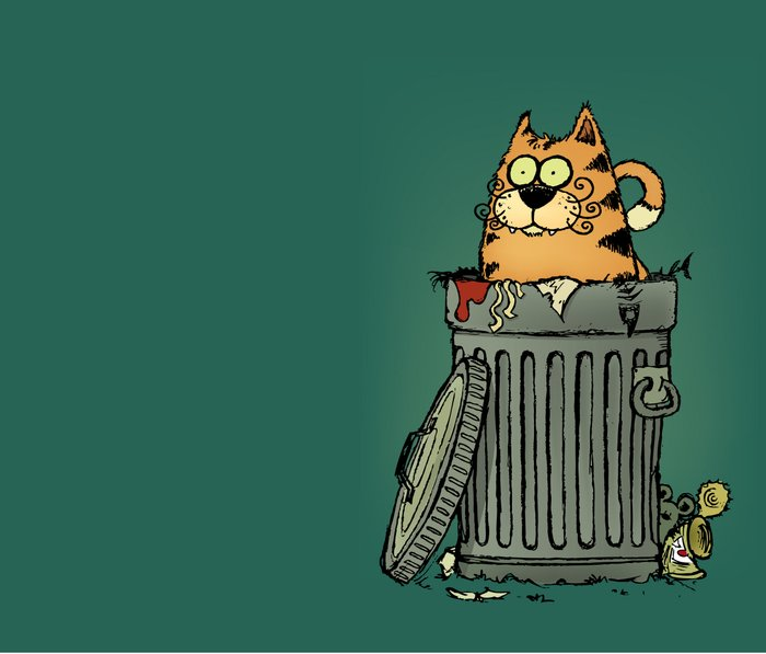 Stray cat Metal Travel Mug