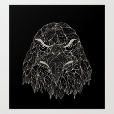 Lined Eagle Art Print