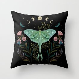 Luna and Forester Throw Pillow
