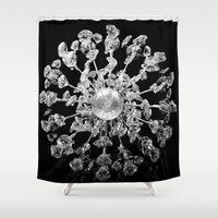 chandelier Shower Curtains featuring Chandelier by bellazarb