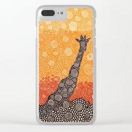 Giraffe In The Bush Clear iPhone Case