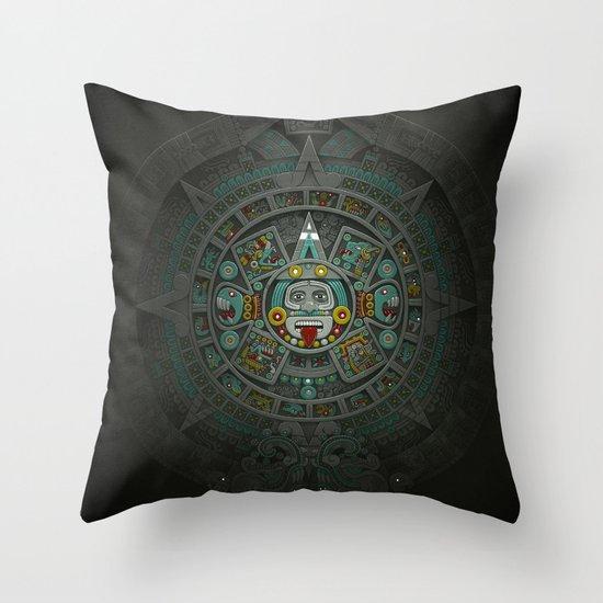 Stone of the Sun II. Throw Pillow