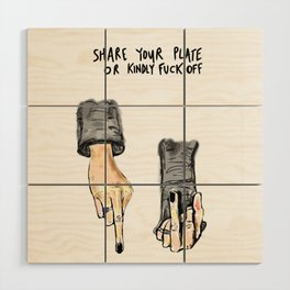 Share Your Plate Wood Wall Art