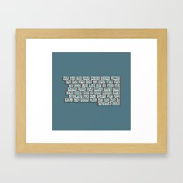 Kufi Poem Framed Art Print