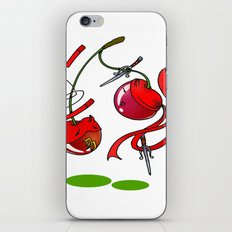 Cherry couplefight iPhone & iPod Skin