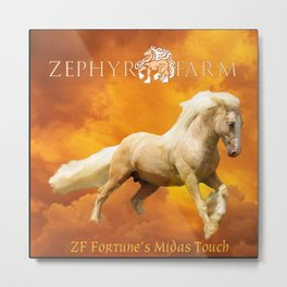 ZF's Golden Storm Metal Print
