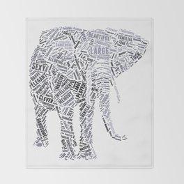 My Spirit Animal is an Elephant Throw Blanket