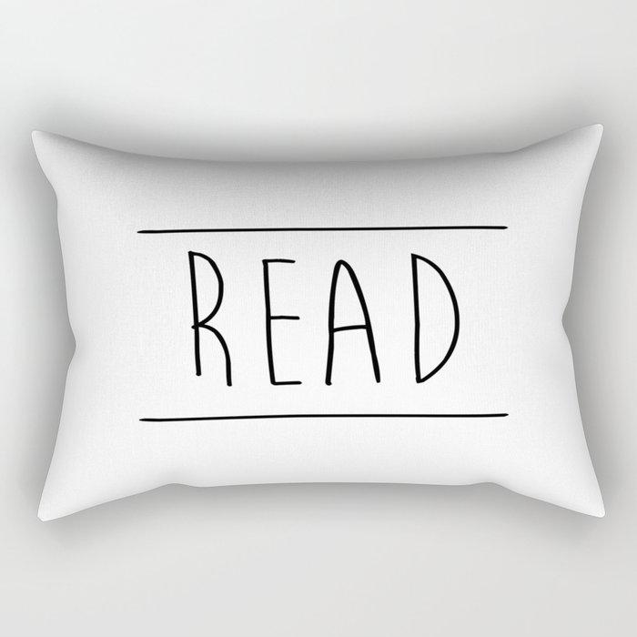 Read Between The Lines Rectangular Pillow