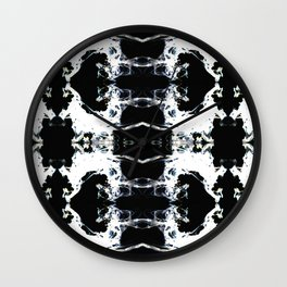 Ink Smudge Inverted Wall Clock