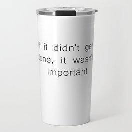 The Procrastinator's Creed Travel Mug