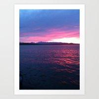 spring sunset Art Print