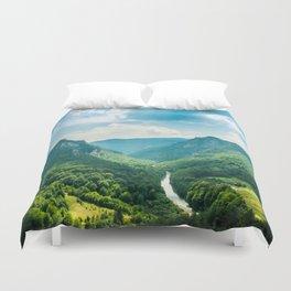 Landscape - Green Mountains  Duvet Cover