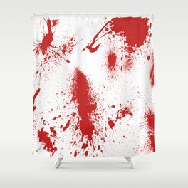 Blood Spatter Shower Curtain