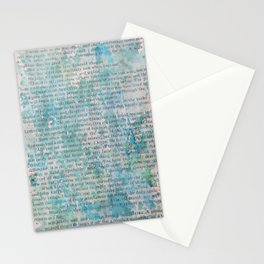 Blue and Green Splatters Stationery Cards