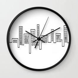 City Shape Wall Clock