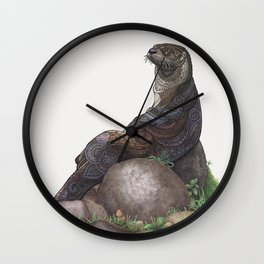 The Majestic Otter Wall Clock