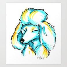Brush Breeds-Standard Poodle Art Print